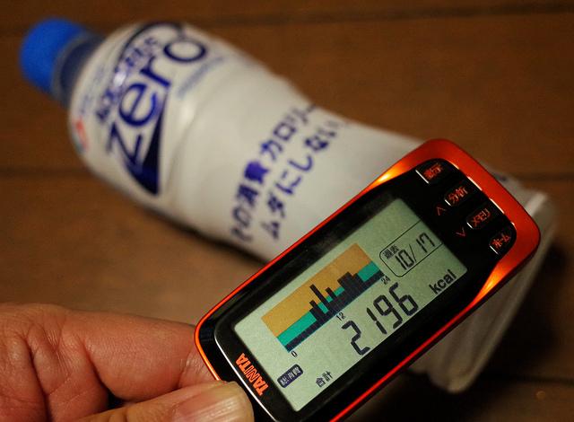 アクエリアスゼロ 健康チャレンジ1 チャレンジ状況と消費カロリー