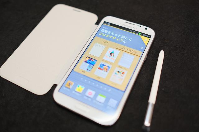 Galaxy Note 2 やはりペンを使ってノートとして使うのが便利