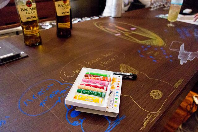 GINZA RAKUGAKI Café & Bar by Pentel 銀座のバーで大人に落書きを楽しもう