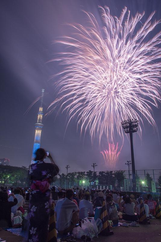 夏の花火大会撮影会 花火の撮影方法を学び、隅田川花火大会を良い場所で撮影