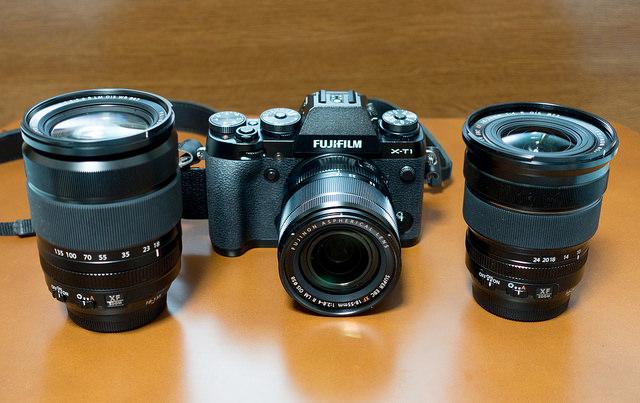 FUJIFILM X-T1とフジノンレンズXF18-135mmF3.5-5.6 R LM OIS WR,XF10-24mmF4 R OIS,XF18-55mmF2.8-4 R LM OIS