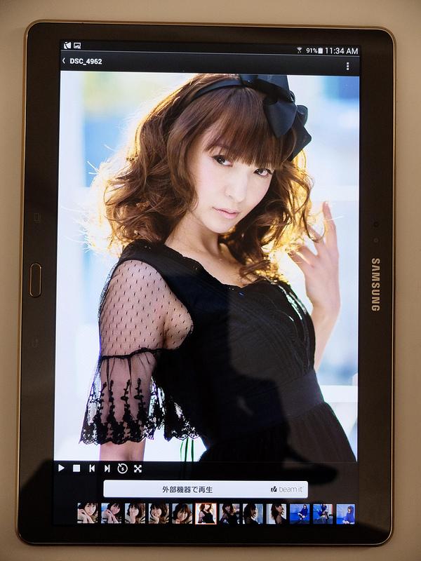 GALAXY Tab S 10.5 SM-T800 写真や映像をみるのも良いね