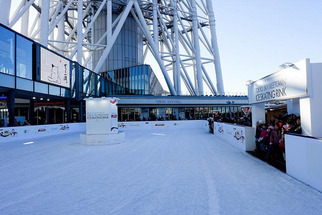 東京スカイツリータウンでアイススケート