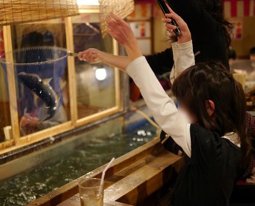 ざうお こどもは釣りに親は新鮮な魚介に夢中