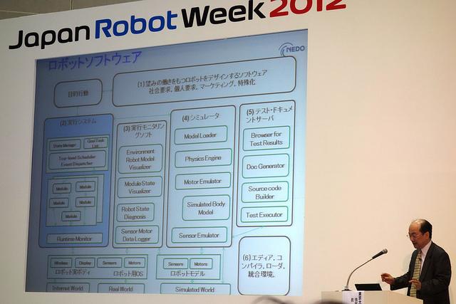 Japan Robot Week 2012 NEDO国際ロボットフォーラム