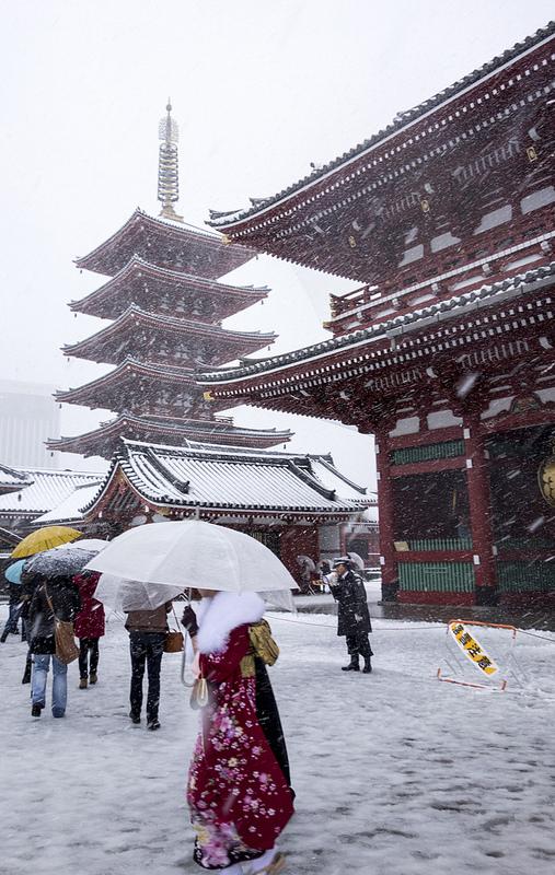 東京で初雪が降ったので撮影散歩