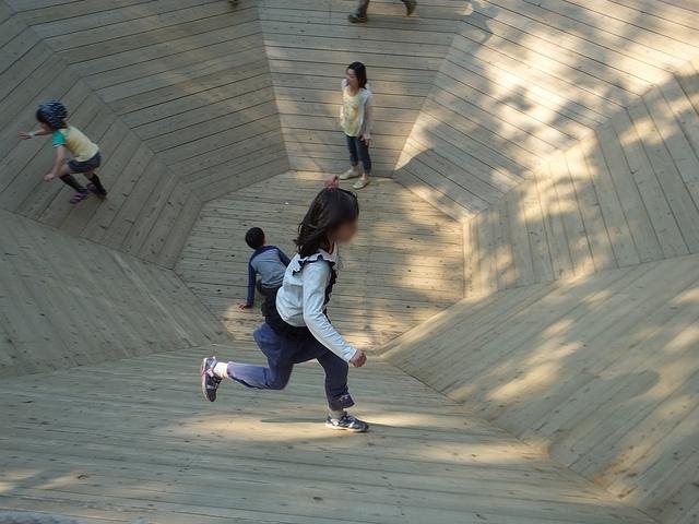野田 清水公園のアスレチック