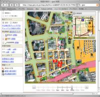 gooも衛星写真地図