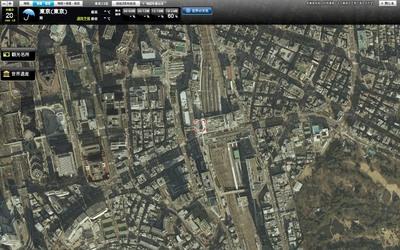 goo地図 全画面表示&昭和38年の東京23区航空写真