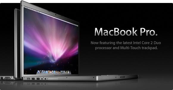 マルチタッチトラックパッド搭載新MacBook Pro発表&新MacBook発表