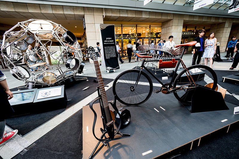 音楽とモビリティの未来を感じるデザイン展「Two Yamahas, One Passion」