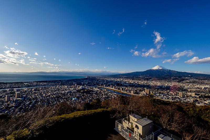 沼津 香貫山と千本松原からの富士山