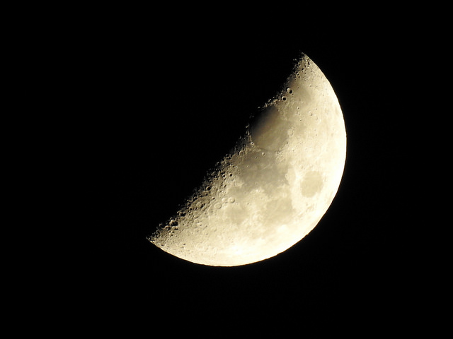 HALF MOON and FULL MOON by Nikon COOLPIX P900