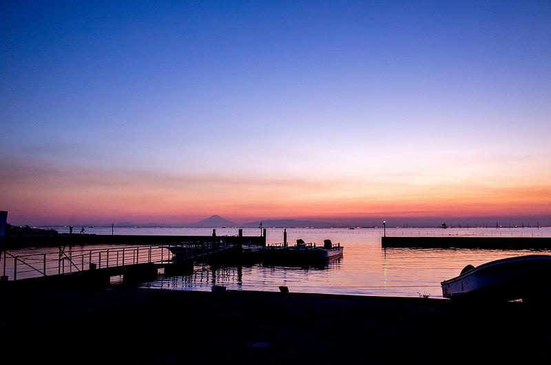 木更津のウユニ塩湖 江川海岸で夕景撮影