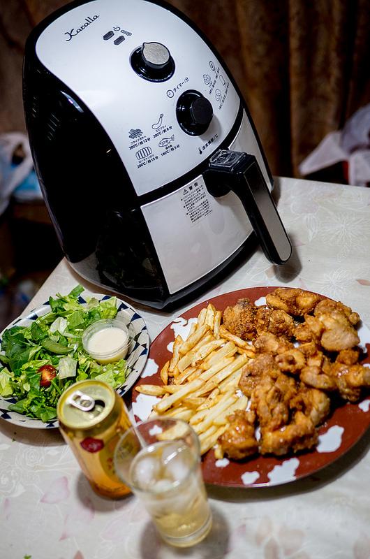 ショップジャパン「カラーラ」で油を使わず簡単ヘルシーで美味しい唐揚げとフレンチフライができた!