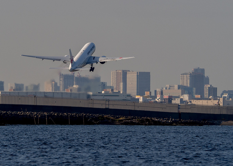 羽田沖クルージング 離発着する飛行機を撮影 #ヤマハマリン