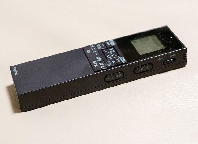 軽くて遠くの声まで拾えるボイスレコーダー Logitec LRT-FMVR01BK #モノフェローズ