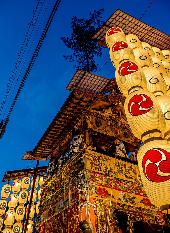 京都 祇園祭 後祭 宵々々山を撮影