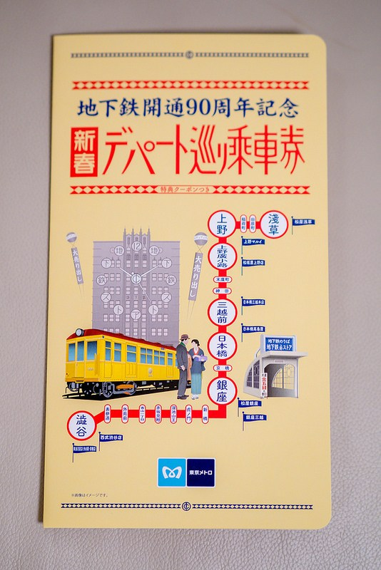 地下鉄開通90周年記念 新春デパート巡り乗車券 当選