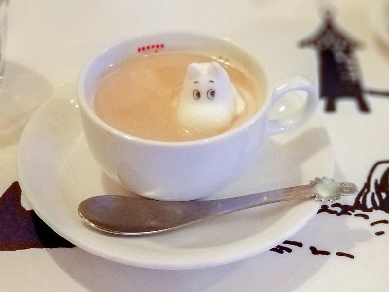 ムーミンがロイヤルミルクティーで入浴 ムーミン ベーカリー&カフェ 東京ドームシティ ラクーア店