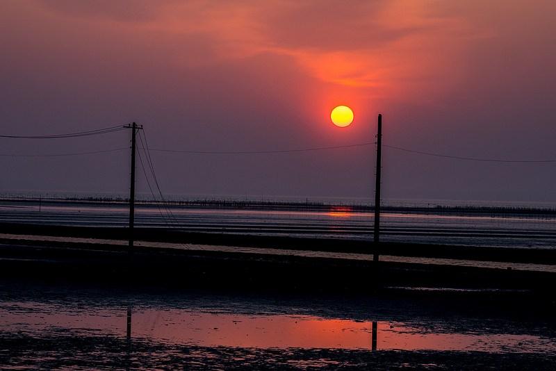 木更津 江川海岸の夕日