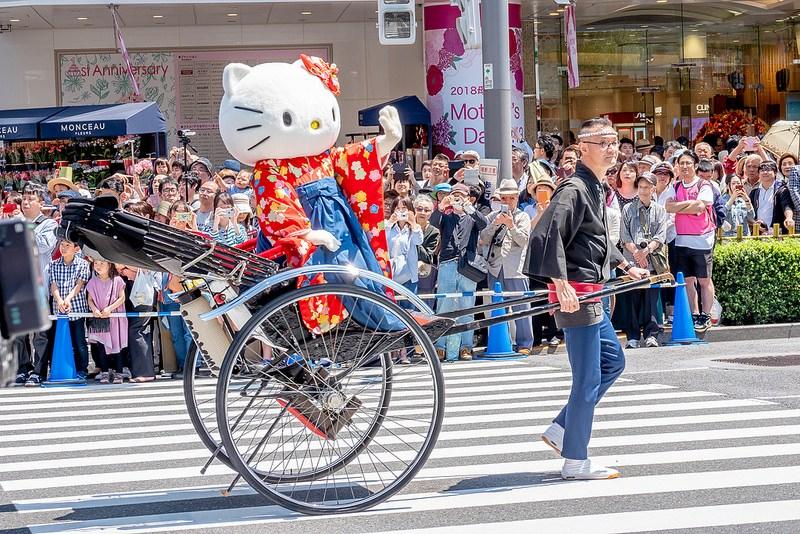 銀座柳まつり2018 交通安全 ゴールデンパレード