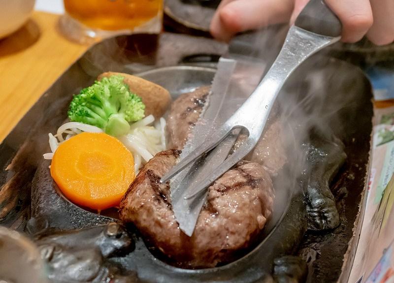 〆はげんこつハンバーグで 炭焼きレストランさわやか 御殿場インター店 #こぶツアー