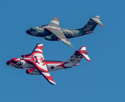 基地創設60周年記念 #入間航空祭 歌舞伎塗装C-1や陸自空挺降下 災害救助 T-4飛行展示など