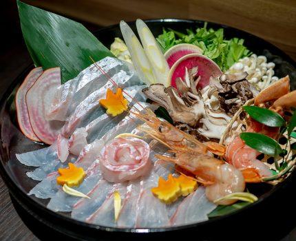 ウニ出汁の鯛しゃぶ鍋と鮮魚と日本酒 海鮮個室居酒屋 魚将 田町・三田店