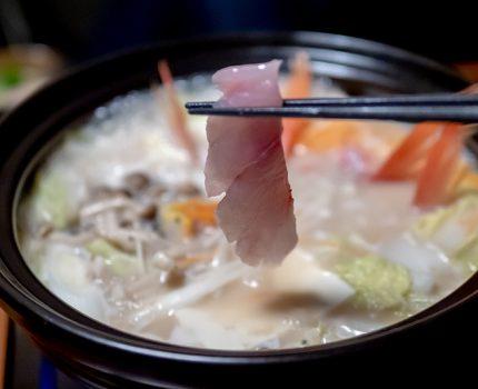 豚骨スープの金目鯛しゃぶしゃぶ鍋で暖まる 海鮮個室居酒屋 みや田 横浜店