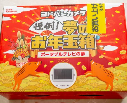 ヨドバシカメラ初売りで夢のお年玉箱をゲット ポータブルテレビの夢でお風呂テレビをリニューアル