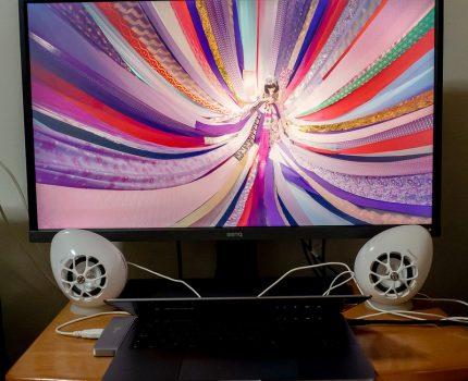 31.5型 #4K HDR #アイケアディスプレイ #BenQ #EW3270U#体験モニター に当選! PS4 Pro, Switch, MacBook Pro, 4K FireTVなどに接続