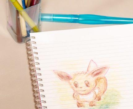 みず筆でのパステルのグラデーションや混色が楽しい ぺんてる Vistage 水彩スティック