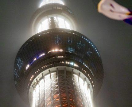平成から令和へ 雨の東京スカイツリー レーザーマッピング