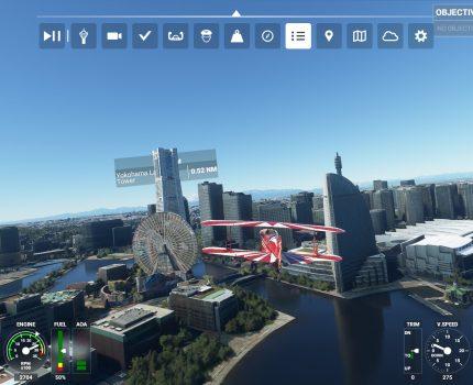 Microsoft Flight Simulator 2020 で 都市上空を低空で遊覧飛行