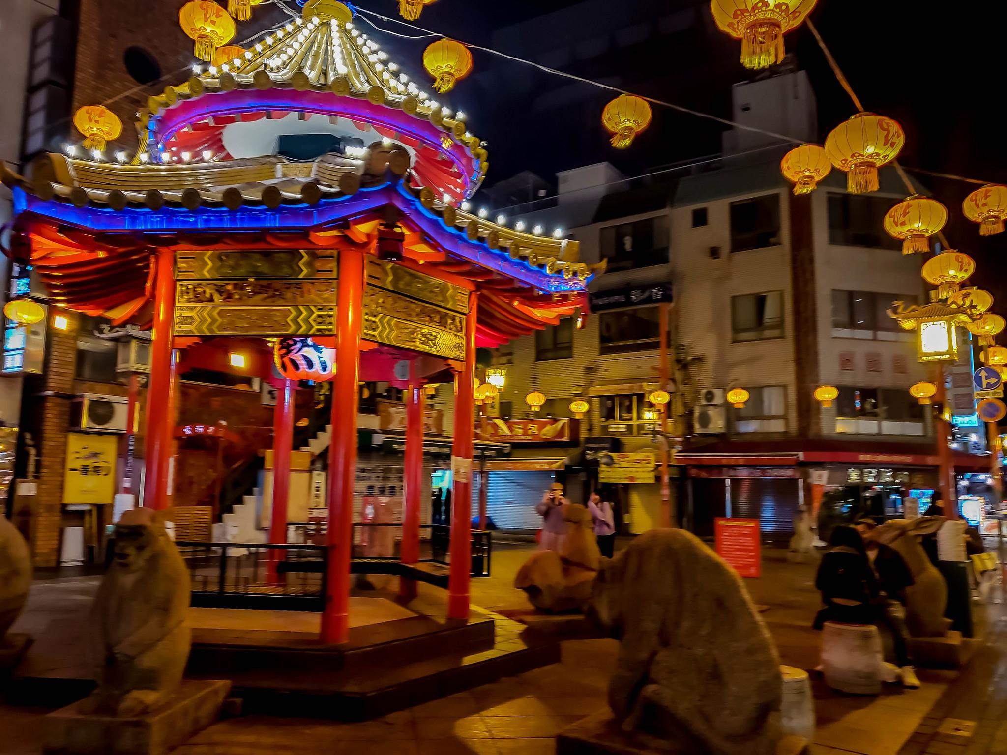 神戸元町 南京町 福龍菜館と神戸プラザホテル