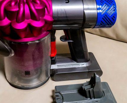コードレススティッククリーナーdyson v6 (SV07)のバッテリーがすぐ切れるようになったので バッテリー交換