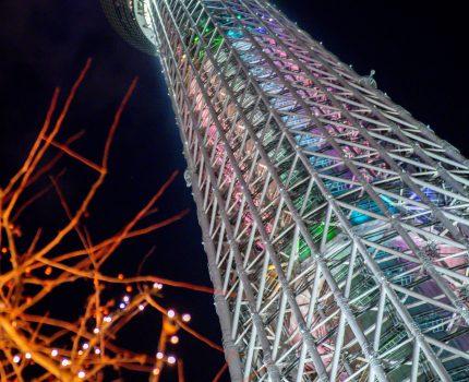 東京スカイツリーとイルミネーション