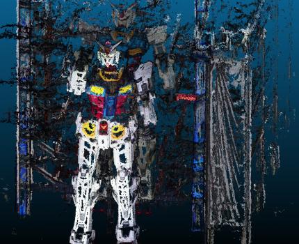 実物大ガンダムの動画から3Dモデルを作成してみました