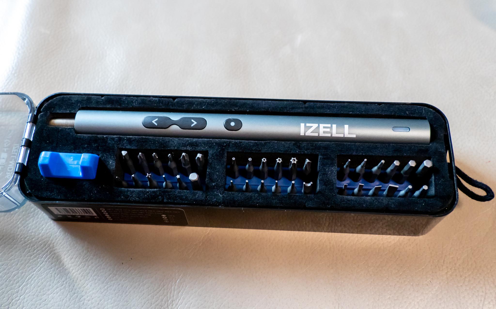 軽量・コンパクトでLEDライト付きの充電式ペン型電動ドライバー IZELL-MD36