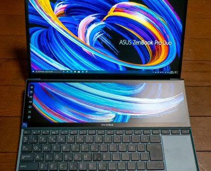 ScreenPad Plusでデュアルディスプレイによる作業効率と機動性・省スペースを両立したノートPC #ASUS ZenBook Duo 14