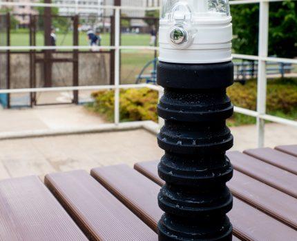 熱中症防止にマイボトル 伸縮可能で丈夫なシリコン水筒 AQUA_hack