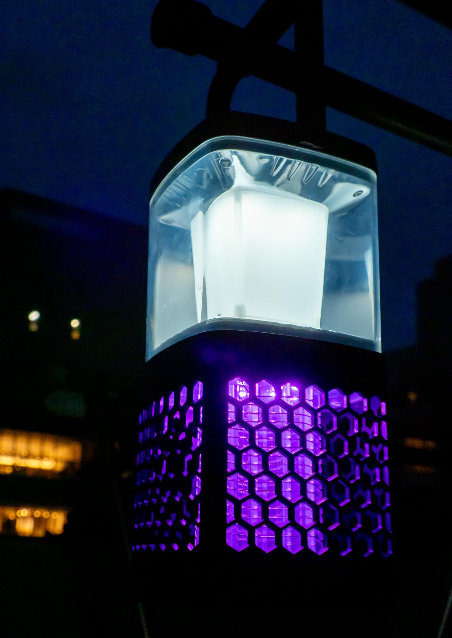 蚊対策に モスキーターZ 薬剤や電源が不要で匂いや音もなく安全な電撃殺虫器  LEDランタンも付いて災害対策にも