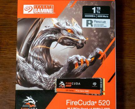 1TBの大容量 耐久性・速度に優れたM.2 NVMe PCIe Gen4 x4 SSD Seagate FireCuda 520