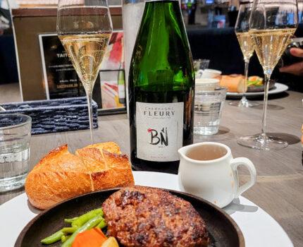 ワインショップのシャンパンを持ち込み シャンパンランチ MARUGO 四谷